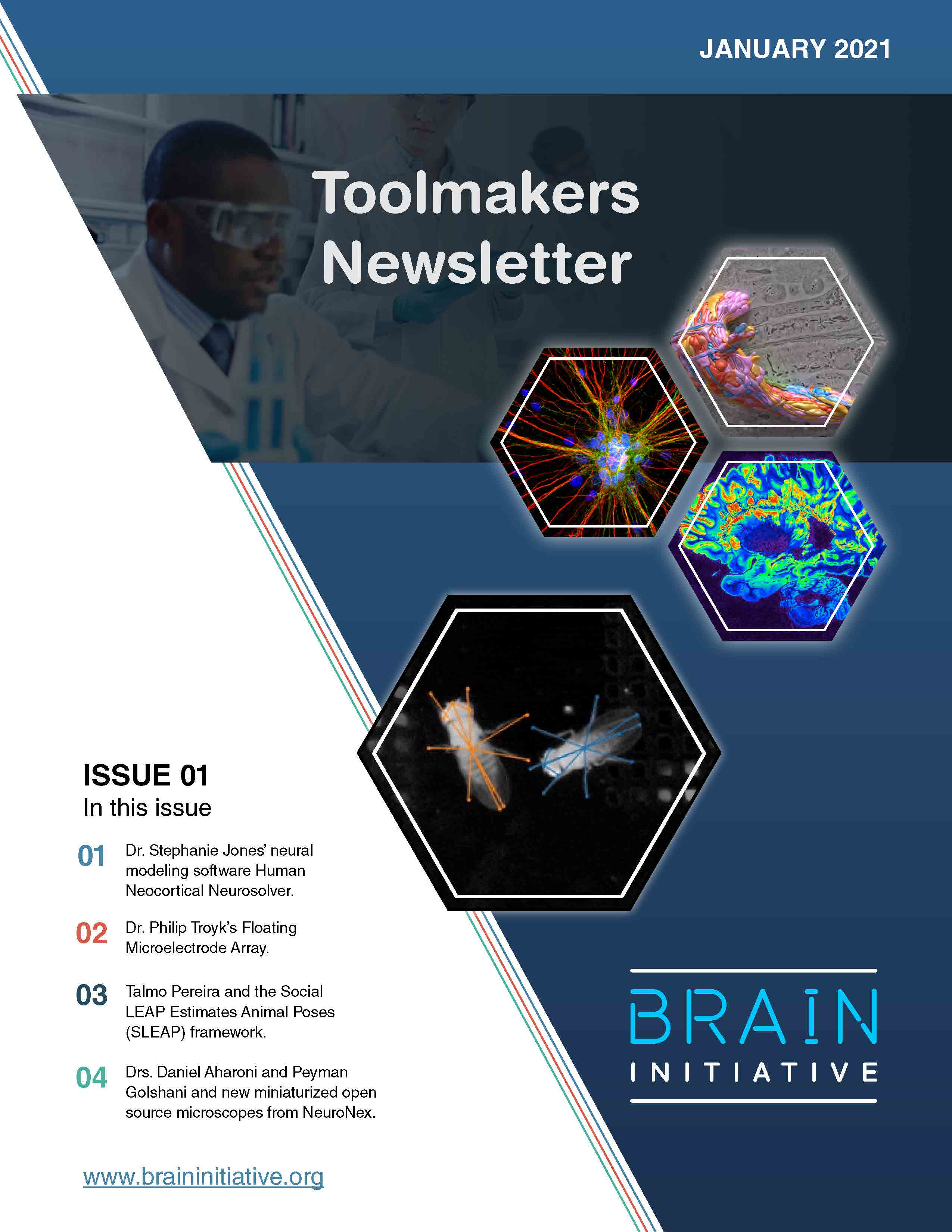 BRAIN toolmakers newsletter_issue 1_Jan2020_cover page